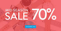 Mid Season Sale 70%